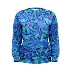 Blue Confetti Storm Women s Sweatshirt