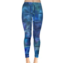 Blue Squares Tiles Leggings