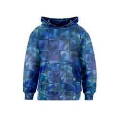 Blue Squares Tiles Kid s Pullover Hoodie