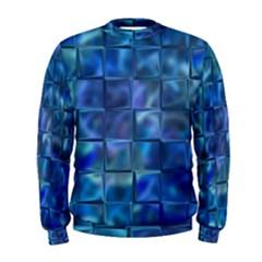 Blue Squares Tiles Men s Sweatshirt