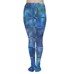 Blue Squares Tiles Tights