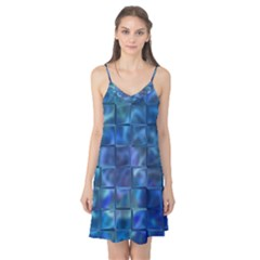 Blue Squares Tiles Camis Nightgown