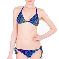 Blue Sunrise Fractal Bikini Set