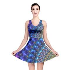 Blue Sunrise Fractal Reversible Skater Dress