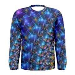 Blue Sunrise Fractal Men s Long Sleeve T-shirt