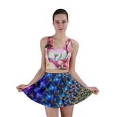 Blue Sunrise Fractal Mini Skirt