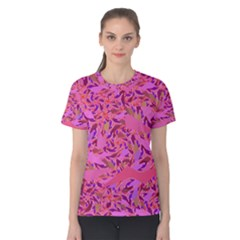 Bright Pink Confetti Storm Women s Cotton Tee
