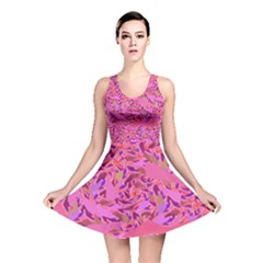 Bright Pink Confetti Storm Reversible Skater Dress