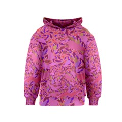 Bright Pink Confetti Storm Kid s Pullover Hoodie