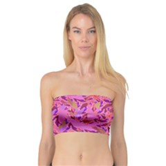 Bright Pink Confetti Storm Women s Bandeau Tops