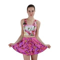 Bright Pink Confetti Storm Mini Skirts
