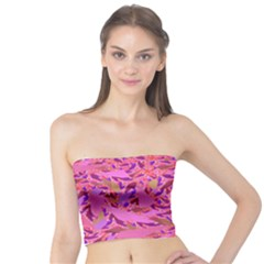 Bright Pink Confetti Storm Women s Tube Tops