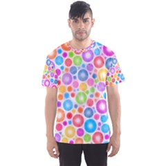 Candy Color s Circles Men s Sport Mesh Tee