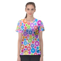Candy Color s Circles Women s Sport Mesh Tee