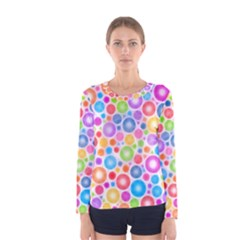 Candy Color s Circles Women s Long Sleeve T Shirt