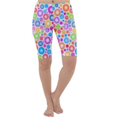Candy Color s Circles Cropped Leggings