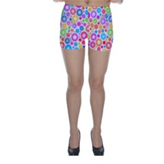 Candy Color s Circles Skinny Shorts