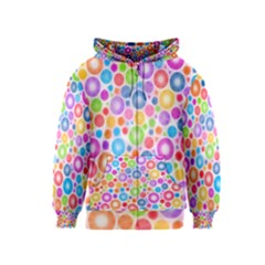 Candy Color s Circles Kids Zipper Hoodie