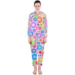 Candy Color s Circles Hooded Jumpsuit (ladies)