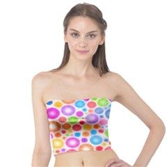 Candy Color s Circles Women s Tube Tops
