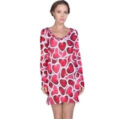 Candy Hearts Long Sleeve Nightdress
