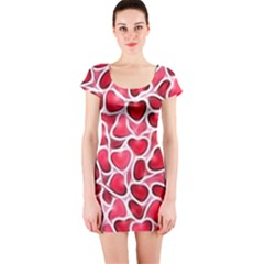 Candy Hearts Short Sleeve Bodycon Dress