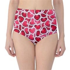 Candy Hearts High-Waist Bikini Bottoms