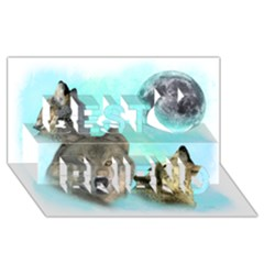 Wolves Shiney Grim Moon 3000 Best Friends 3D Greeting Card (8x4)