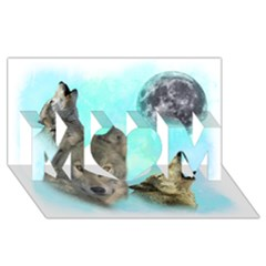 Wolves Shiney Grim Moon 3000 Mom 3d Greeting Card (8x4)