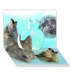 Wolves Shiney Grim Moon 3000 Apple 3d Greeting Card (7x5)