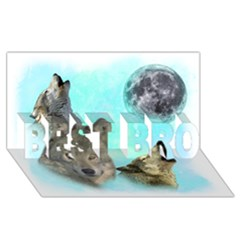 Wolves Shiney Grim Moon 3000 Best Bro 3d Greeting Card (8x4)