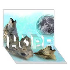 Wolves Shiney Grim Moon 3000 Hope 3d Greeting Card (7x5)