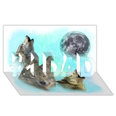 Wolves Shiney Grim Moon 3000 #1 Dad 3d Greeting Card (8x4)