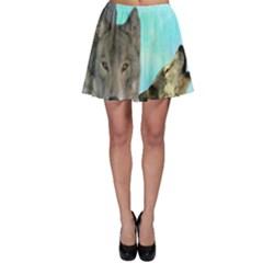 Wolves Shiney Grim Moon 3000 Skater Skirts