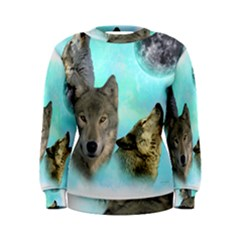 Wolves Shiney Grim Moon 3000 Women s Sweatshirts