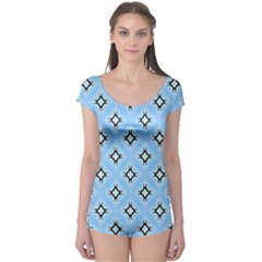 Cute Pretty Elegant Pattern Short Sleeve Leotard