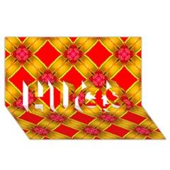 Cute Pretty Elegant Pattern Hugs 3d Greeting Card (8x4)