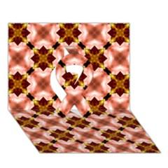 Cute Pretty Elegant Pattern Ribbon 3D Greeting Card (7x5)