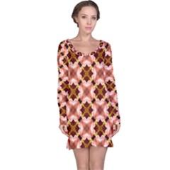 Cute Pretty Elegant Pattern Long Sleeve Nightdresses