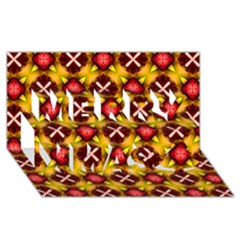 Cute Pretty Elegant Pattern Merry Xmas 3d Greeting Card (8x4)
