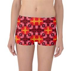 Cute Pretty Elegant Pattern Reversible Boyleg Bikini Bottoms