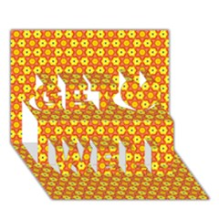 Cute Pretty Elegant Pattern Get Well 3D Greeting Card (7x5)