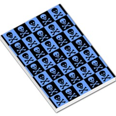 Blue Skull Checkerboard Large Memo Pads