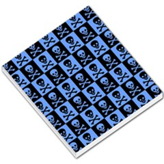 Blue Skull Checkerboard Small Memo Pads