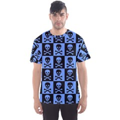 Blue Skull Checkerboard Men s Sport Mesh Tees