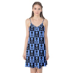 Blue Skull Checkerboard Camis Nightgown