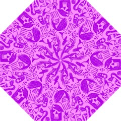 Purple Skull Sketches Folding Umbrellas