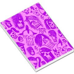 Purple Skull Sketches Large Memo Pads