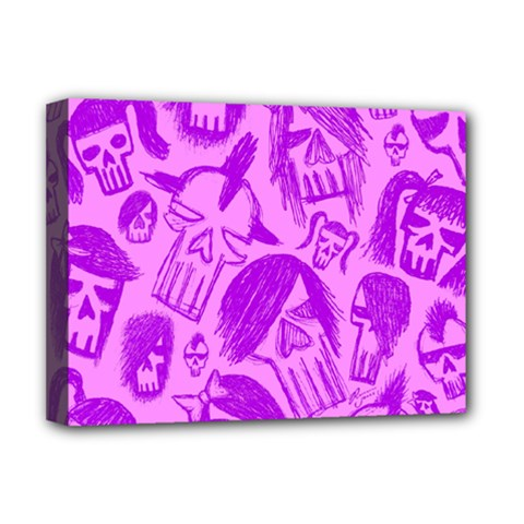 Purple Skull Sketches Deluxe Canvas 16  X 12