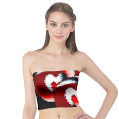 Heart Time 3 Women s Tube Tops
